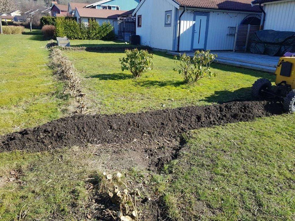 gräva upp häck stubbfräsning göteborg